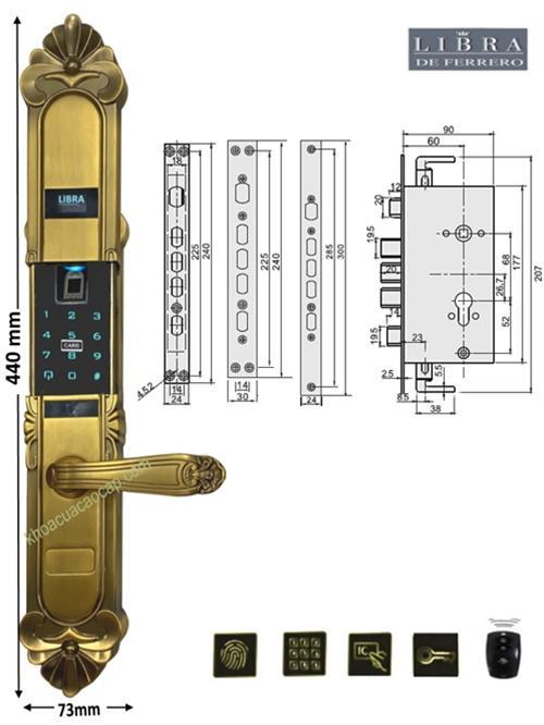 Chi tiết khóa tân cổ điển FC408AD