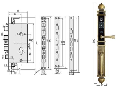 Chi tiết kỹ thuật khóa vân tay FM901