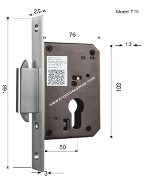 khóa âm inox 304 cho cửa trượt